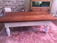 Solid large coffee table