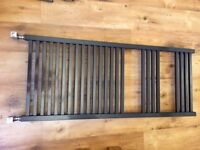 Anthracite - Elegance Quadris Towel Rail 1200 x 500mm including square valves £90 ono