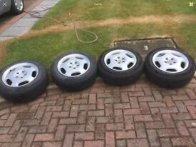 2104010402 4 X Genuine Merak Mercedes Alloy Wheels With 205/60/R16 Tyres.