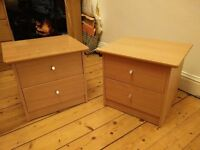 Two small bedside tables