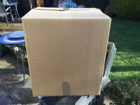40 sturdy cardboard packaging boxes plus packing paper