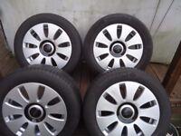 16 x 4 Alloyls and Tyres VW T- 4 VW Caddy AUDI A3 A4 A5 PCD 5x112