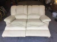 Sofa two seater recliner leather