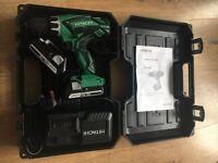 Hitachi DV18DGL combi hammer drill and planer set