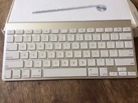 Apple Wireless Keyboard - used twice and still in the box. Like new condition