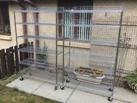 2x Large Stainless Steel Catering Shelving In Excellent Condition Can Be Delivered.