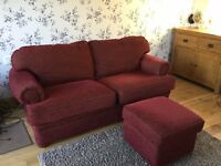 Sofa & Foot Stool/pouffe, Great Condition
