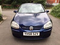 VW GOLF 1.9 TDI MATCH BLUEMOTION, 5 DOORS, FULL VW SERVICE HISTORY, HPI CLEAR