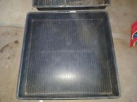 Large black square sand/water trays (2 to sell)
