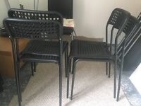 4x ikea black chairs almost new