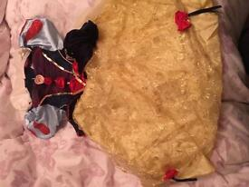 Snow White and belle dresses 3-4