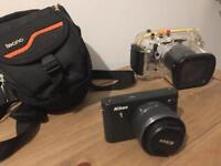 Nikon J1 immaculate condition with 10-30 additional lens and underwater housing