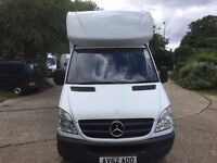 MERCEDES SPRINTER LUTON VAN WITH TAIL LIFT.2012.LWB.EXCELLENT RUNNER.1 OWNER