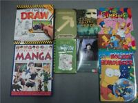 Job Lot Kids Books (x8) inc Minecraft/Diary of a wimpy Kid/Simpsons (2) Manga /Drawing /Novels