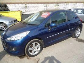 Peugeot 207 Sport,3 door hatchback,rare auto,1 previous owner,2 keys,only 12,000 miles,full MOT,