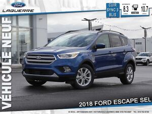2018 Ford Escape SEL*Cuir 84$/Semaine 0$ CASH!!* * LF