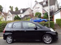 IMMACULATE! (2007) HONDA JAZZ SPORT 1.3 i-DSi BLACK 1 OWNER/ONLY 65K MILES/FSH/FREE DELIVERY/MOT/TAX