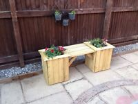 Double planter with single seat, handmade ,free delivery