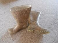Leopard Print Wellies size 3
