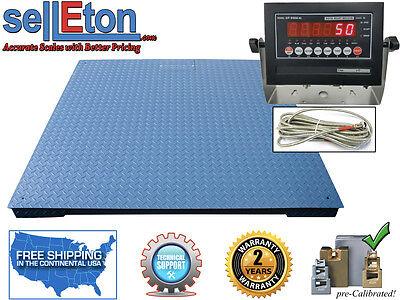 Heavy Duty Industrial Floor Scale 7 X 7 84 30000 Lbs X 5 Lb Led Display