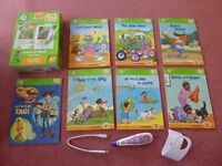 Leapfrog Tag Reader Pen with holder, set of Long Vowel Books & computer lead - suits 4-7 years