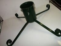 Metal Christmas Tree Stands - One Green One Red £6 Each £10 / Pair