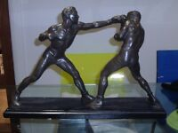 BOXING PEWTER FIGURES