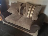 SCS Corner Sofa with 2 Seater & warranty....reduced for quick sale!!