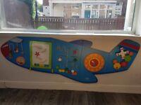 Kids aeroplane activity wall