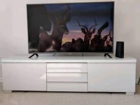 Ikea Besta tv unit and glass top