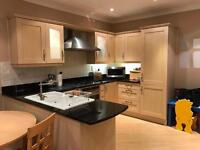 Beautiful wood and galaxy granite kitchen only 3 years old