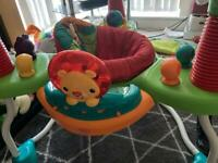 Jumperoo and baby clothing