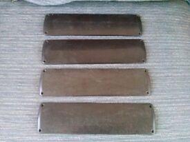 4 Bakelite Door Finger Plates