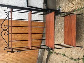 Solid Cast Iron & Wood Ornate 4 Shelf Dresser