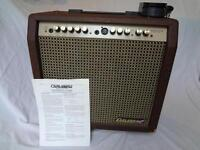 Carlsbro Sherwood 65 electro acoustic guitar amplifier with original footswitch