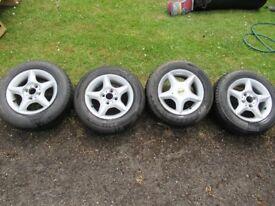 """CMS 13"""" Alloy Wheels - New Tyres!"""