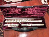 Buffet Crampon Paris Flute 228 Cooper E Scale Silver Plated W/Case