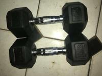 Brand new pair of hex dumbbells