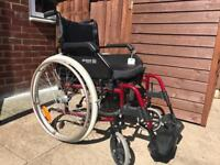 Self propelled wheelchair with cushion and footplates vgc Can deliver