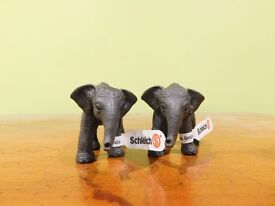 2 Schleich elephant baby models £9.75 postage price included