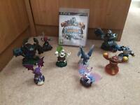 PS3 sky lander game and figures