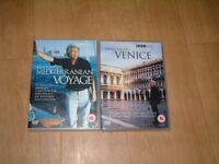 Travel DVD's, Francesco's Mediterranean Voyage, Francesco's Venice (double DVD's)