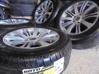 "17"" vw t5 Alloys Wheels transporter Vauxhall Vivaro traffic NEW TYRES px welcome"