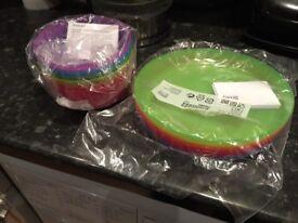 IKEA kids bowls and plates