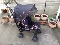 Silver Cross pop butterflies pushchair with raincover