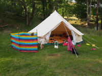 BELL TENT 5M Canvas & Cast PODPADS, with inner tent