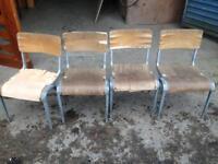 School chairs x4