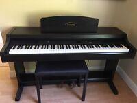 Yamaha Clavinova CLP-820 Electric Keyboard in dark rosewood grain