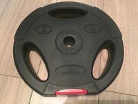 Body Power 5Kg Tri Grip VINYL Standard Weight Disc Plates (x2)