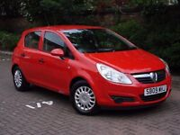 EXCELLENT EXAMPLE!!! 2009 VAUXHALL CORSA 1.2 i LIFE 5dr, 1 YEARS MOT, LOW MILEAGE, AA WARRANTY